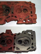 Cylinder Head Before and After Evapo-Rust